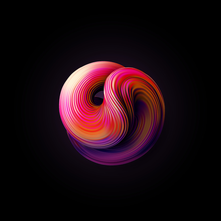 Abstract 3d twisted shape. Illustration