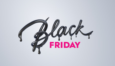 Black Friday Sale label. Vector ad illustration. Vectores