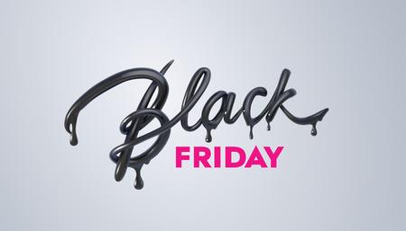 Black Friday Sale label. Vector ad illustration. Vettoriali