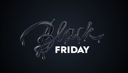 Black Friday Sale label. Vector ad illustration.