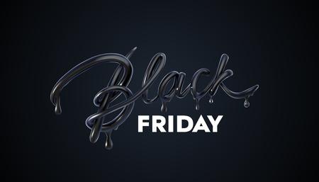 Black Friday Sale label. Vector ad illustration. Stock Illustratie