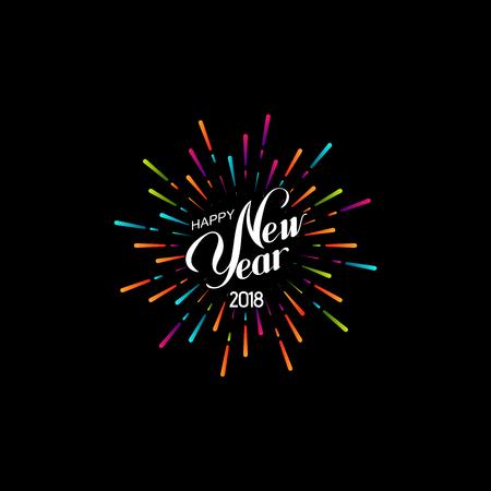 Happy New 2018 Year. Stock Illustratie