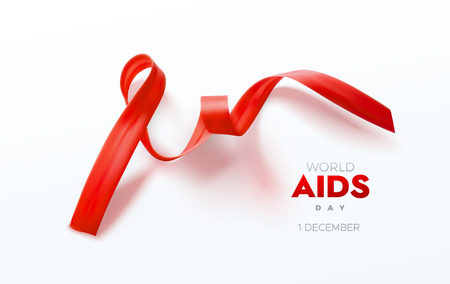 Aids Awareness Red Ribbon.