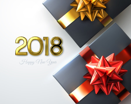 2018 Holiday design vector illustration Banco de Imagens - 90520002