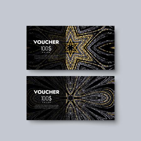 Gift Voucher Templates Set Of Discount Certificates Vector