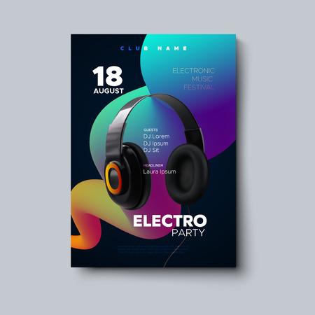 Electronic music festival poster mockup.