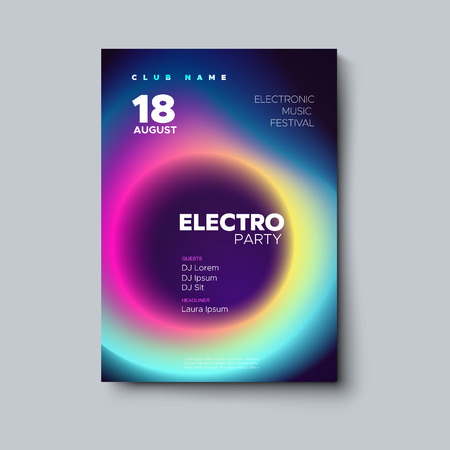 Electronic music festival poster design. Vectores