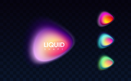 Abstract liquid colorful banner. Ilustrace