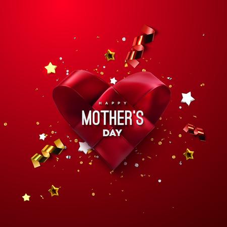 Bannière de la fête des mères heureuse.