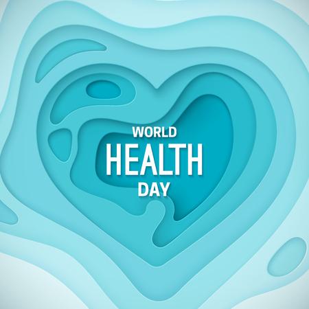 World health day banner template design Illustration