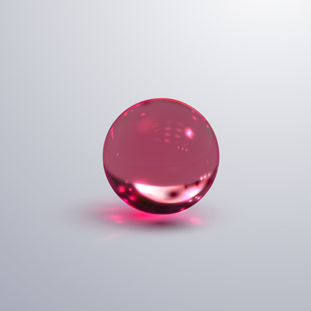 Glossy transparent sphere.
