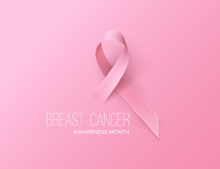 Breast Cancer Awareness Pink Ribbon. World Breast Cancer Day concept. Vector Illustration. Women healthcare concept