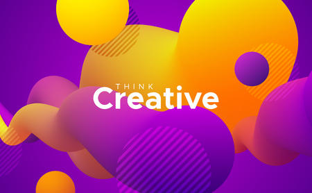 Abstract fluid gradient shapes. Abstract artistic background. Modern creative poster design. Liquid dynamic elements. Vibrant colorful neon substance
