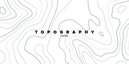Topography relief. Abstract background. Vector illustration. Outline cartography landscape. Modern poster design. Trendy cover with wavy lines Ilustracja