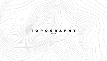 Topography relief. Abstract background. Vector illustration. Outline cartography landscape. Modern poster design. Trendy cover with wavy lines Vectores