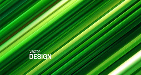 Fresh green layered surface. Abstract geometric background. Vector illustration. Random layers pattern. Striped texture. Natural elegant decoration. Diagonal slices. Banner or cover design. Stockfoto - 151047731
