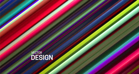 Colorful layered surface. Abstract geometric background. Vector illustration. Random layers pattern. Striped texture. Vibrant elegant decoration. Diagonal slices. Banner or cover design. Stockfoto - 151048884