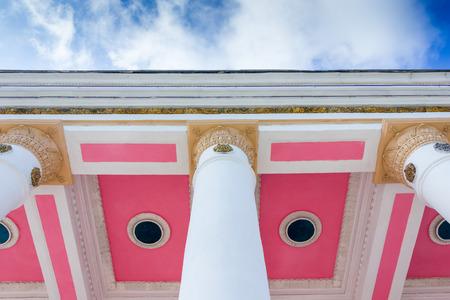 academia: White stone pillar