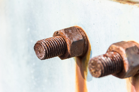 rusted: Rusted bolt with nut