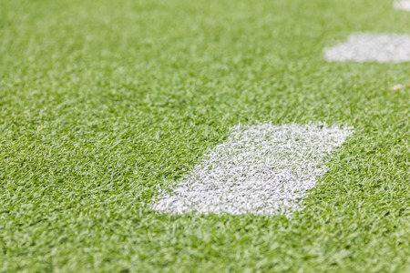 football pitch: Artificial football pitch in the open air Stock Photo
