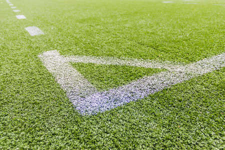 open air: Artificial football pitch in the open air Stock Photo