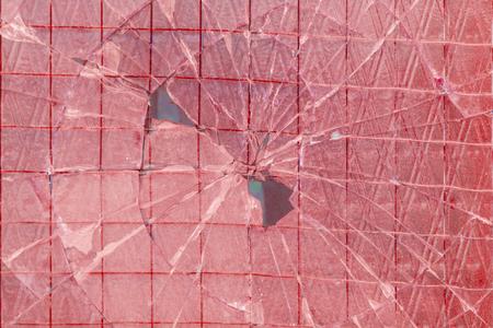 Zerbrochenes dekoratives und glänzendes Glasblockfenster als Textur oder für Hintergrund. Die Mauer. Geometrischer Hintergrund. Standard-Bild - 74993111