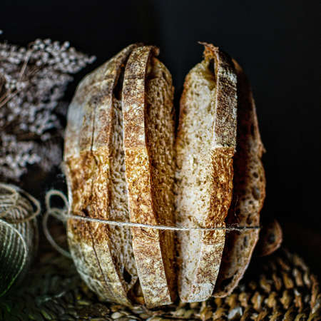 Whole wheat sourdough homemade bread