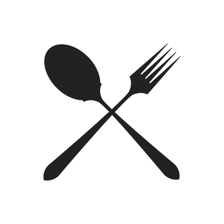 crossed fork and spoon