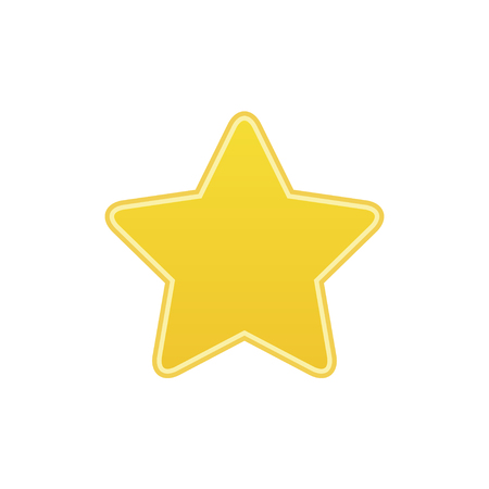 achievement concept: Big Gold Star icon isolated, ranking mark. Modern simple flat favorite sign. Yellow internet concept. Trendy  decoration symbol for website design, web button, mobile app.  illustration