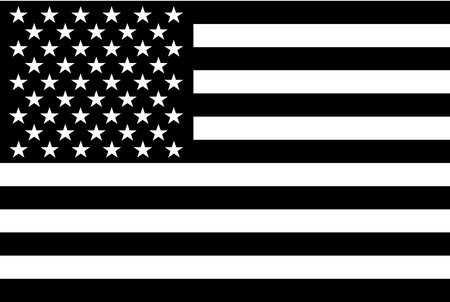Black and white American flag.