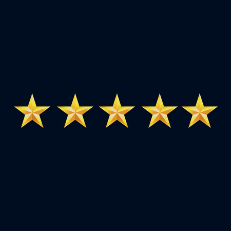 Five star hotel business concept  icon. Success business simple isolated sign symbol. Vectores