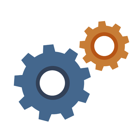 Gear icon with place for your text. illustration