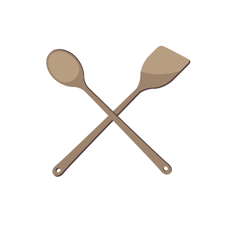 Illustration shovel for a cake on a white background with a shade