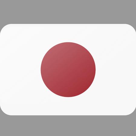 Flag of Japan  illustration