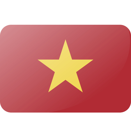 Flag of Vietnam. . Accurate dimensions, elements proportions and colors. 向量圖像