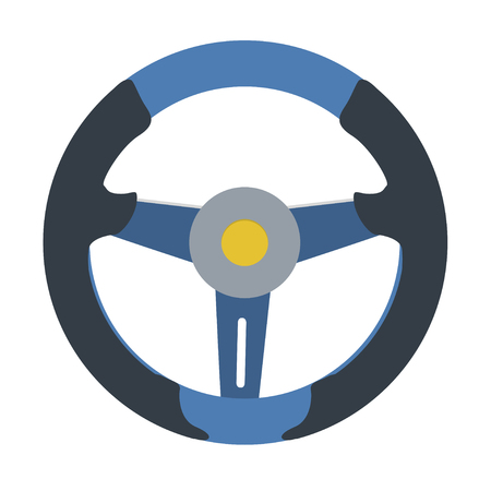 Sport Steering Wheel icon, isolated on white background