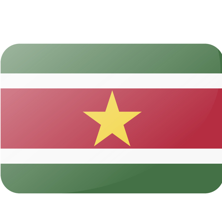 Suriname: flag of suriname Illustration