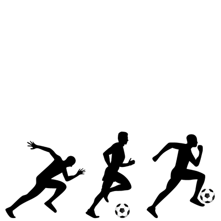 soccer player illustration Illustration