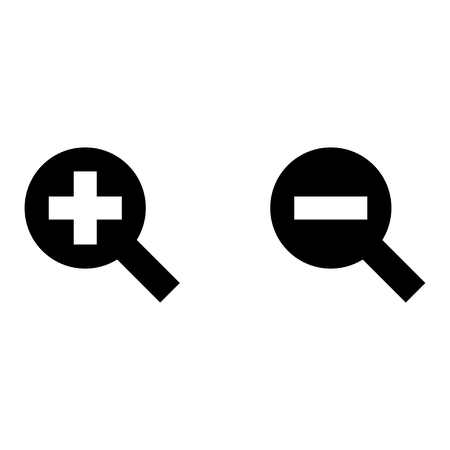 Plus and minus icons.