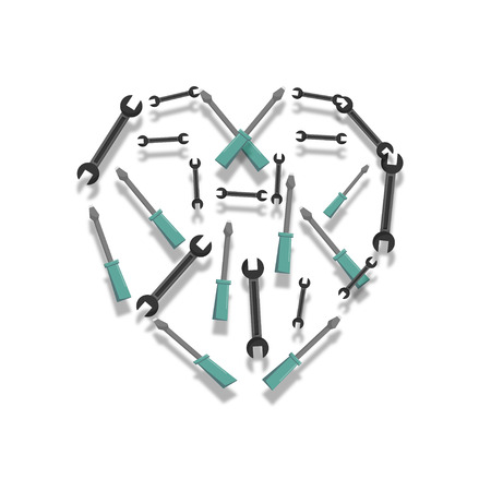 Heart of the tools 版權商用圖片