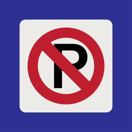 Warning traffic sign, NO PARKING 向量圖像