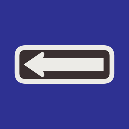 motorist: Turn Left Ahead Sign Illustration