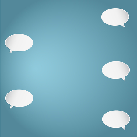 Smartphone SMS Chat Bubbles Set