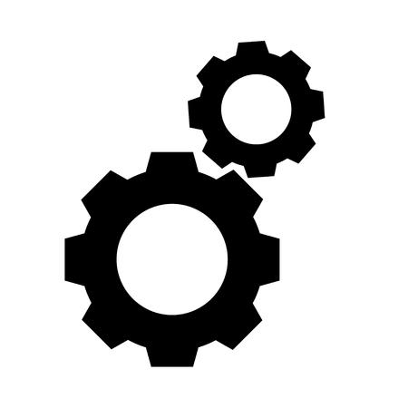 gear Icon vector flat design 向量圖像