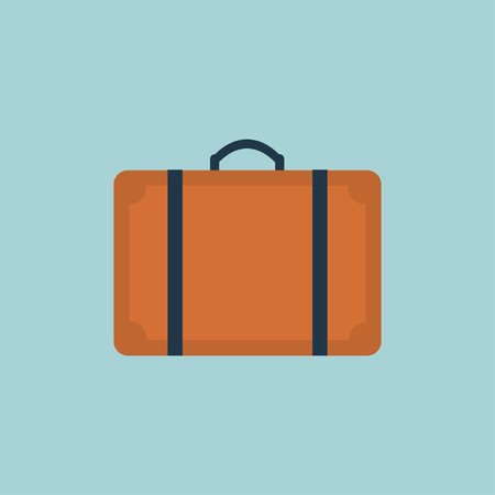 Suitcase icon.Flat design style modern illustration.Suitcase vector illustration.Suitcase isolated on a white background.Suitcases travel.Illustration for travel, holidays, trips. Suitcases vacation. 向量圖像