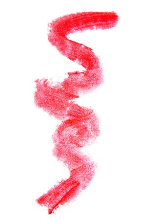 Lipstick smear sample on white background Stock Photo