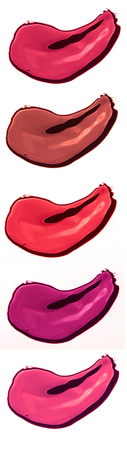 Lipstick smear sample on white background Stock Photo