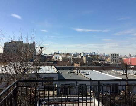view from the window in Brooklyn on Manhatan