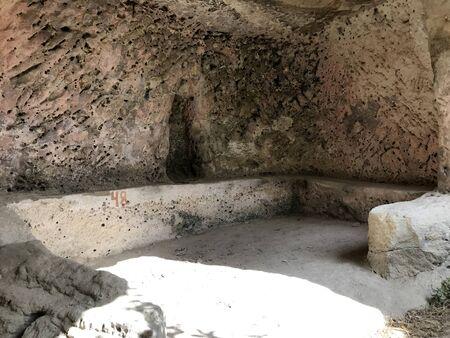Cave city of ancient Christians Kachi Kalon in Bakhchisarai