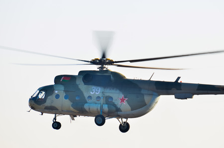 Belarus. Minsk. July 12, 2018. Mi-8 Helicopter of the Belarusian Air Force Editorial